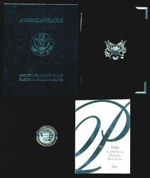 Gem Ultra Cameo PRF 1998-W $10 pure Platinum Eagle. Box