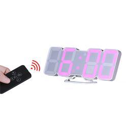 3D Colorful LED Digital Clock Remote Control