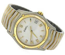 Ebel Classic Wave 2 Tone White Roman Dial Watch
