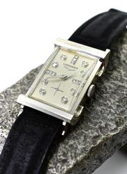 Vintage 14K White Gold & Diamond Longines Watch