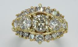 Magnificent 2.74CTW Multi Diamond Band Ring, 14KT