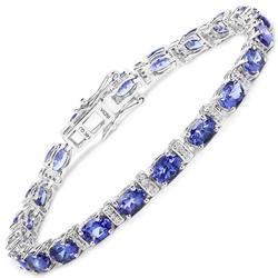 14kt Gold 9+CTW Tanzanite & Diamond Bracelet