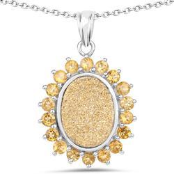 Sterling Silver Genuine Gemstone Pendant