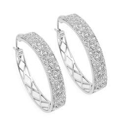 0.32 CTW Genuine White Diamond Earrings