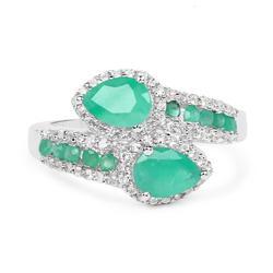 Beautiful Genuine Emerald Cocktail Ring