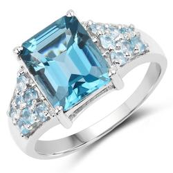 Fancy Blue Topaz Cocktail Ring