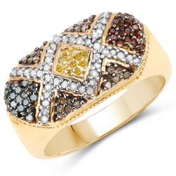 Multi Colored Genuine 0.61 CTW Diamond Ring