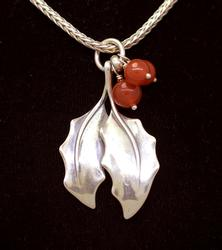 Holly Leaf Pendant on 16in Chain