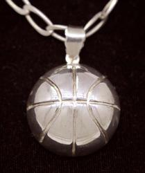 Basketball Pendant on 18in Chain
