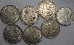 7 1921 P D And S Morgan Dollars