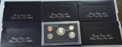 US Silver Proof Set Lot, w/ 95