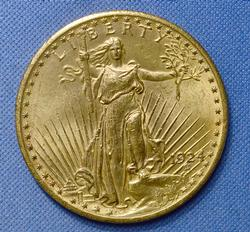 Nearly Unc 1924 Gold Double Eagle $20 St Gaudens