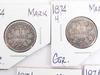 5 German 1874 1 Mark Coins
