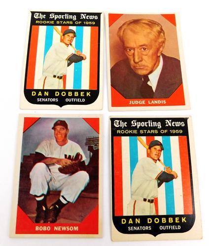 4 Vintage Baseball Cards