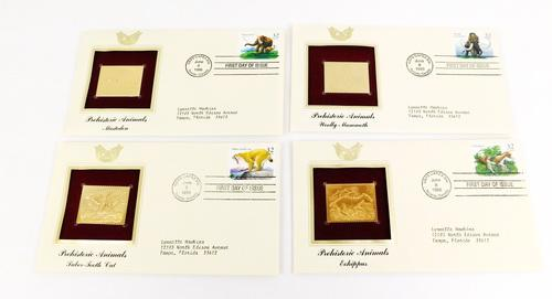 4 1996 1st Day Issues & 22KT Gold Stamps
