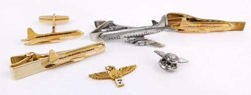 Vintage Airlines Tie Bars & Pins