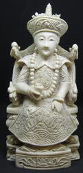 Chinese Woman Antique handcrafted Ivory Sculpture