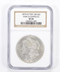 XF45 1879-CC Morgan Silver Dollar - VAM 3 Capped CC - Graded NGC