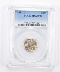 MS66 FB 1931-D Mercury Dime - Graded PCGS