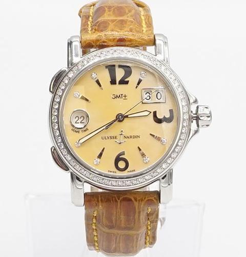 Ladies Ulysse Nardin San Marco GMT With Diamonds