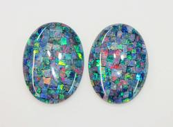 Compelling Natural Opal Mosiac Pair