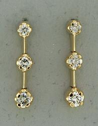 Diamond Past Present and Future Earrings