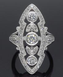 Navette Style Diamond Ring