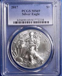 2017 Silver Eagle PCGS MS69
