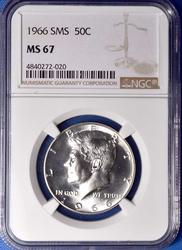 1966 SMS Kennedy 50c, NGC MS67