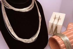 Liquid Silver Necklace, Bracelet & Earrings