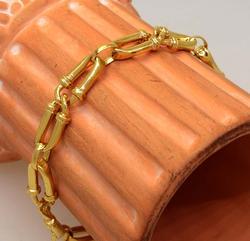 Great Gold Chain Bracelet, 7.75in
