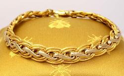 Two-Tone 18K Gold Bracelet, 7.75in