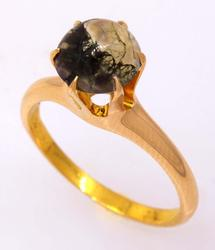 Moss Agate Ring in Gold, Size 4.75