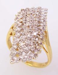 Multi-Diamond Freestyle Ring, Size 6
