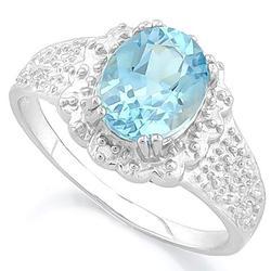 Aquamarine Sterling Silver Ring