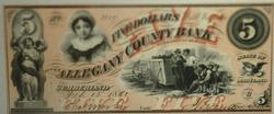 Choice 1861 $5 Unc Allegany County Bank Cumberland Md