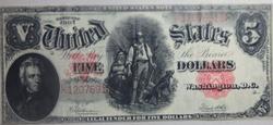 $5 Series of 1907 Lumberjack Note