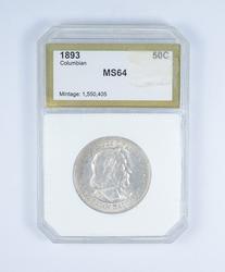 MS64 1893 Columbian Expo Commemorative Half Dollar - Graded PCI