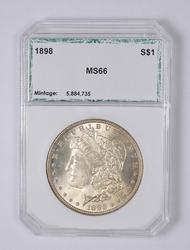 MS66 1898 Morgan Silver Dollar - Graded PCI