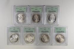Lot (7) MS64 1880-S & 1881-S Morgan Silver Dollars - Graded PCGS