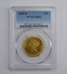 MS62 1892-O $10.00 Liberty Head Gold Eagle - Graded PCGS