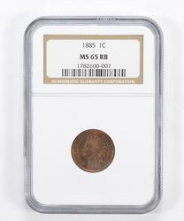 MS65 RB 1885 Indian Head Cent - Beautiful Color - Graded NGC