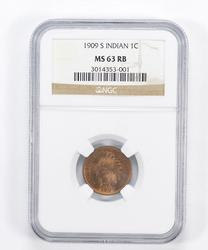 MS63 RB 1909-S Indian Head Cent - Graded NGC