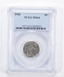 MS64 1936 Indian Head Buffalo Nickel - Graded PCGS