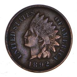 1892 Indian Head Cent - Scar Face - Sharp
