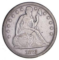 1872-S Seated Liberty Silver Dollar - Circulated
