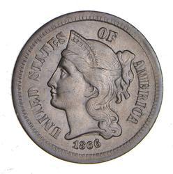 1866 Nickel Three-Cent Piece - Choice