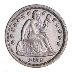 1859 Seated Liberty Dime - Near Uncirculated