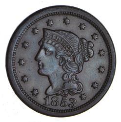 1853 Braided Hair Large Cent - Choice