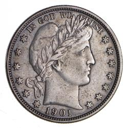 1901-O Barber Half Dollar - Sharp